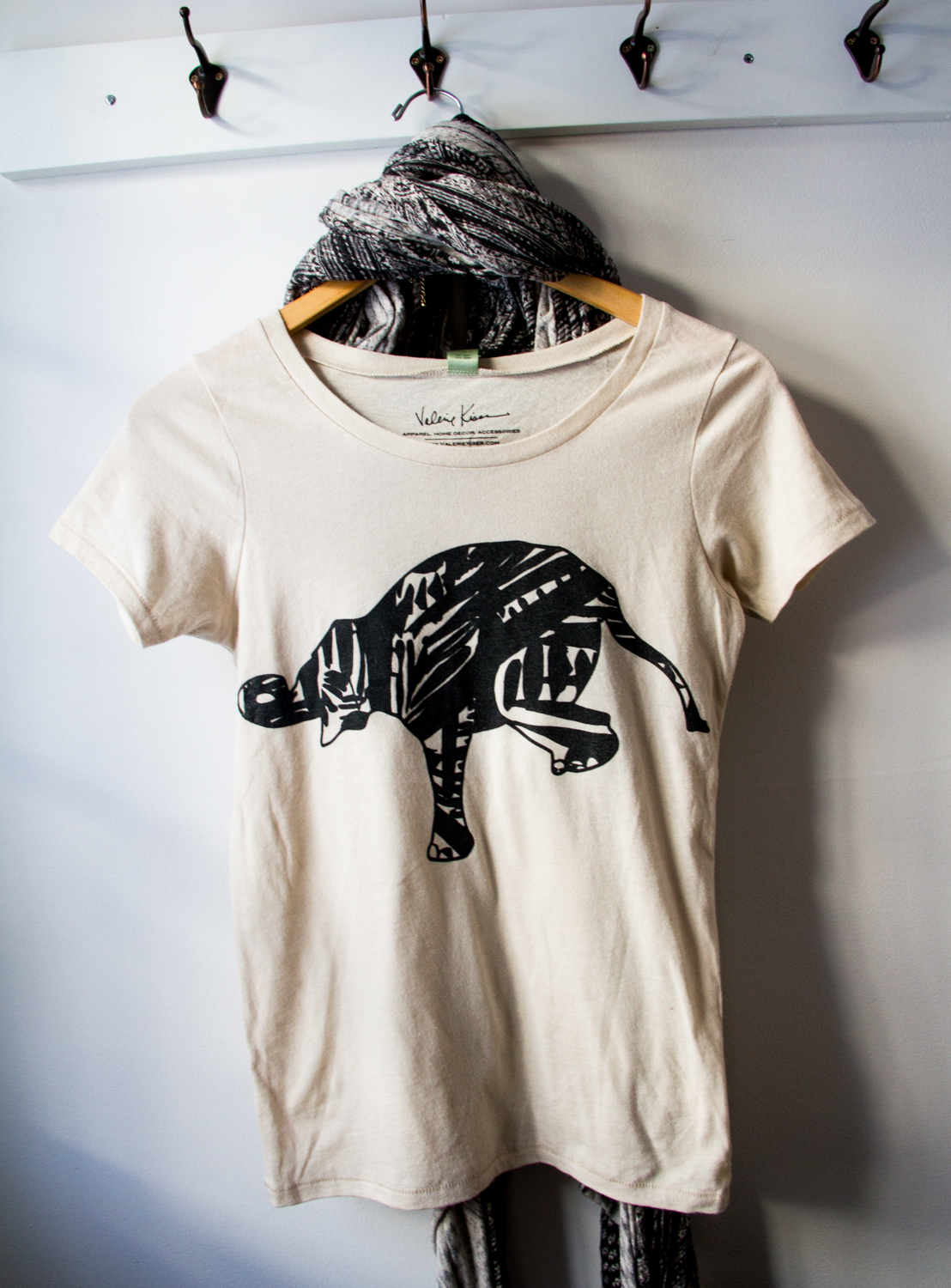 Elephant Scoop Neck Organic Tee